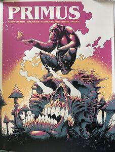 Primus Poster Austin 2021 concert tour luke preece art tribute to kings