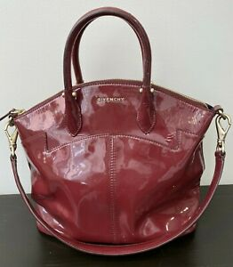 Authentic GIVENCHY Red Patent Leather Dome Antigona Two Way Bag