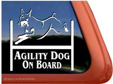 Agility Dog On Board | Doberman Agility Dog High Quality Vinyl Decal Sticker