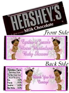 12 Ethnic Princess Winter Wonderland Baby Shower Hershey Candy Bar Wrappers