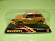 MEBETOYS A48 AUTOBIANCHI A112 - MUSTARD YELLOW 1:43 - NEAR MINT ON CARD BLISTER