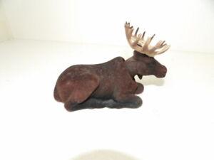 Vintage Flocked Moose Nodder Bobblehead