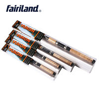 Ultralight Telescopic Fishing Rod High Carbon Fiber Wooden Handle Spinning Poles