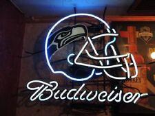 "New Bud Light Budweiser Seattle Seahawks NFL Neon Sign 20""x16"""