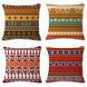 "Aztec Bohemia Geometric Abstract Cotton Linen Pillow Case Cushion Cover 18""x18"""