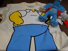 Universal Studios Simpsons Homer Costume T Shirt Small w/Plush Itchy