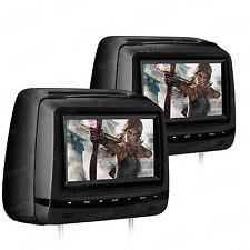 2x 7 Zoll Auto KFZ Kopfstütze mit DVD Player HD Screen Touch-Buttons USB FM/IR