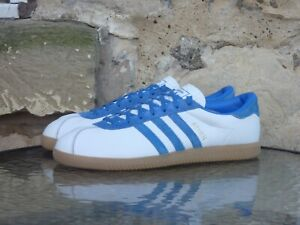 2017 Adidas Athen UK10.5 / US11 Rare White Blue City Series Vintage Originals