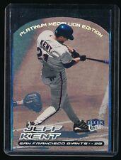 JEFF KENT 2000 ULTRA PLATINUM MEDALLION #163 37/50 SAN FRANCISCO GIANTS