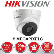 HIKVISION 5MP CCTV CAMERA 4IN1 TVI CVI AHD 5 MP FULL HD 40M EXIR NIGHT VISION UK