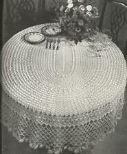 Vintage Crochet Round Tablecloth #1PATTERN ONLY