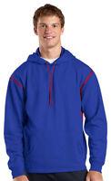 Sport-Tek Men's Big & Tall Polyester Long Sleeve Hood Winter Sweatshirt .TST246