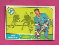 1968-69 OPC # 117 BLUES GARY SABOURIN ROOKIE GOOD  CARD  (INV# C8252)