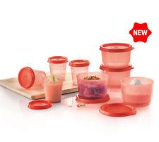 Tupperware kleiner Behälter 12 Stück Kleinkind 60ml Midget Rot