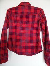 HOLLISTER Red Plaid Button Up Women's Shirt  - Sz S