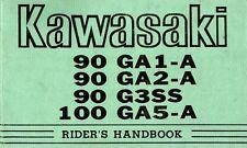 Kawasaki owners manual book 90 G3SS, 90 GA1-A 90, GA2-A & 100 GA5-A