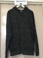Men's Diesel Loungewear UMLT-BRANDON Sweater Hoodie Grey/Black Size S