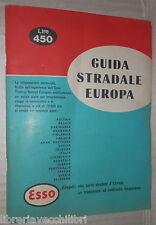 GUIDA STRADALE EUROPA ESSO 1962 Turismo Itinerari Viaggi Automobilistica Auto di