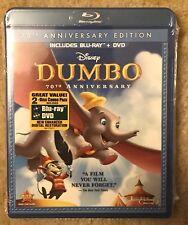 Dumbo (Blu-ray/DVD, 2011, 2-Disc Set, 70th Anniversary) NEW Disney OOP