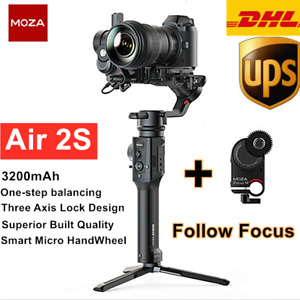 """Moza Air 2S 3-Axis Gimbal stabilizer For Camera Object Tracking w"""" Follow focus"""