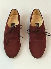 Womens Bally Wine Reddish Leather/Suede Oxfords Size 3E -US 5 1/2 - Switzerland