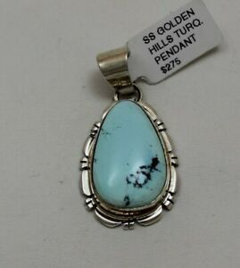 Navajo Indian Pendant 50% Off Golden Hills Turquoise Sterling Thomas Francisco