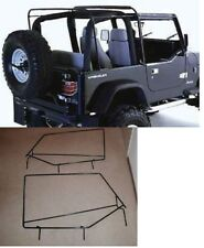 Soft Top Hardware Frame Factory Style Squared Door Frame 88 95 For Jeep Wrangler Fits 1994 Jeep Wrangler