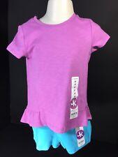 Childrens Clothes Girls 2 PC Set SZ 2T J.Khaki Kids Top Shorts Lavender/Blue NEW