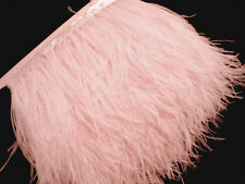 F140 (PER FEET) Very Pale Pink Ostrich feather fringe Trim Fascinator Material
