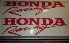 For HONDA RACING style Decals Stickers x 2 CBR CB 1000 VFR vinyl fairing COLOURs