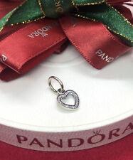 Pandora SYMBOL OF LOVE Authentic Dangle HEART Pendant/Charm 791304CZ Genuine