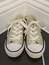 New listing Converse All Star Youth Tennis Shoes Gold ~ Size 12