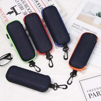 Denim Fabric Glasses Box Zipper Resistance Eyeglasses Case Glasses Carry Bag y
