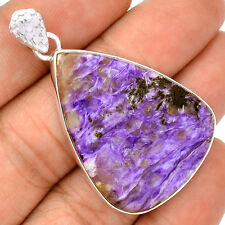 Charoite 925 Sterling Silver Pendant Jewelry SP222172