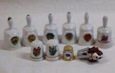 US State Souvenir Thimbles & Miniature Bells LIPCO VTG Hallmark NY NC VT AK VT +