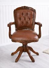 Drehstuhl Besucherstuhl Ledersessel Chesterfield Stuhl Mahagoni Sessel Bürostuhl
