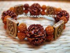 5 Mukhi Rudraksha Five Face Rudraksh18-20 mm NEPAL beads AUM Bracelet wrist band