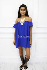 Vestiti da donna blu con lunghezza corto, mini Taglia 40