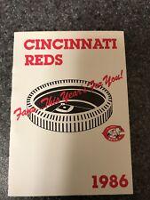 1986 Cincinnati Reds Pocket Schedule Marathon Version