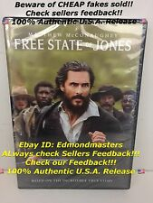 Free State of Jones 2016 DVD 100% AUTHENTIC U.S. RELEASE (Beware of Cheap Fakes)