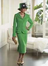 size 14 Green Samantha Skirt Suit Church wedding special event Ashro new