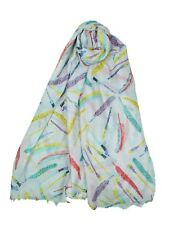 New Design Ladies Women Colorful Feather Print Soft Scarf  Wrap Shawl Gift