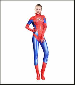 Superhero Spandex Cosplay Spider-woman Spider-girl Costume Tights Zentai Suit