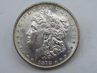 1878-S $1 US MORGAN SILVER DOLLAR GEM BU UNC FULL LUSTER & STRIKE   COIN z7
