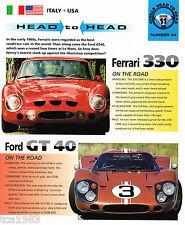 FORD GT40 vs. FERRARI 330 Road Test Brochure, GT40 Race Car
