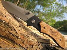 FOX outdoor  WURZELHOLZ Messer Einhandmesser Taschenmesser Klappmesser