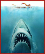 JAWS cult horror movie film T SHIRT Men's All SIZES 70s killer fish shark tee