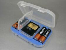 Battery Travel Case Holder fits 4 AA batteries & SM card with Engraved Nameplate