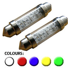 2x Festoon 42mm 264 8 LED 10x42 C21W interior car bulbs