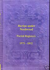 Genealogy - Barton under Needwood Registers (Staffs)